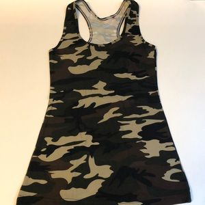 Tops - EUC CAMO RACERBACK TANK XS SOFT FITTED